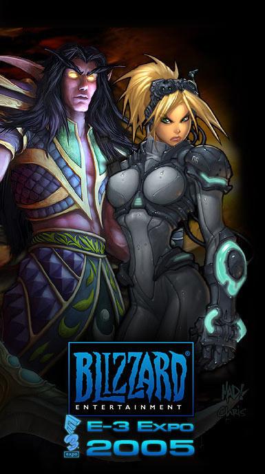 Image de la page d'accueil de Blizzard (E3 2005).