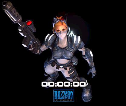 Screenshot de la page d'accueil de Blizzard peu avant l'annonce du développement de Starcraft:Ghost